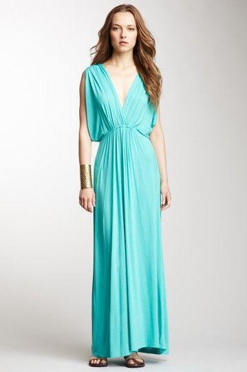 {Surplice Maxi Dress} Fraiche by J - gorgeous colour and draping
