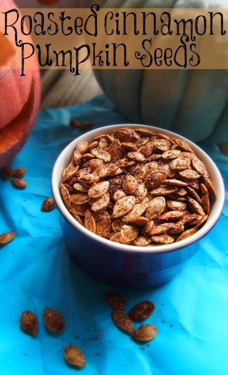 Roasted Cinnamon Pumpkin Seeds