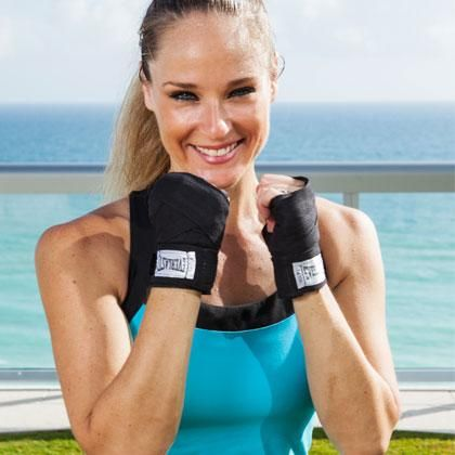 Punch off the pounds and sculpt a knockout body with this home boxing workout