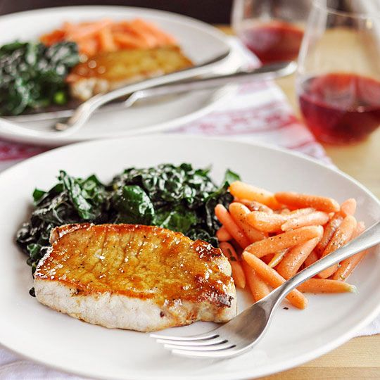 Dinner-for-Two Recipe: Sage-Brined Pork Chops with Brown Sugar Glaze Recipes from The Kitchn
