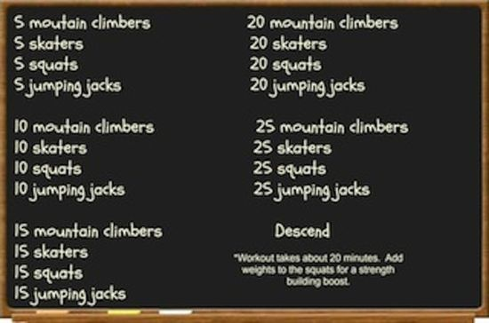 A quick 20 minute cardio workout to get you moving when you're short on time.