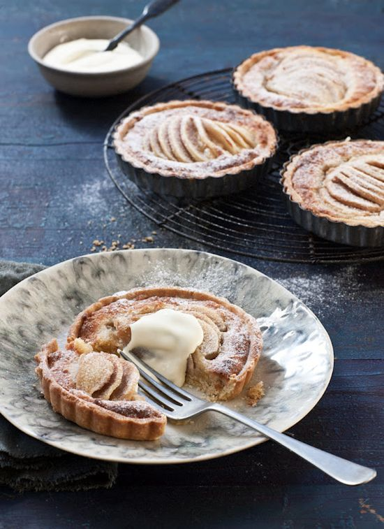 pear and cinnamon frangipane tartlets