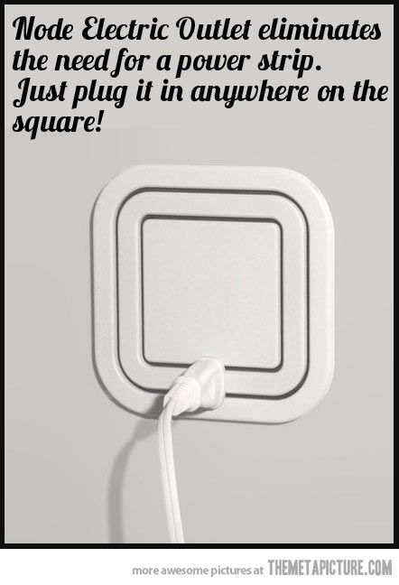 Awesome gadget: Node Electric Outlet  srsfunny.tumblr.com/