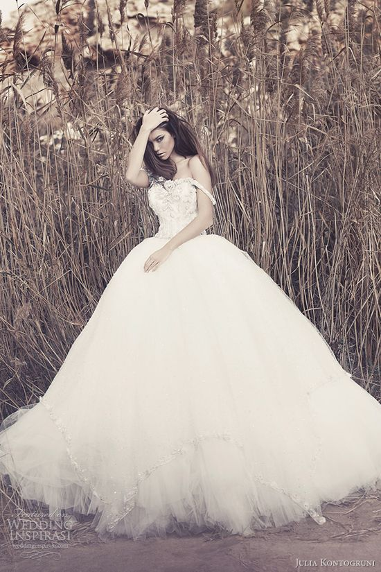 ball gowns with crystal accents- Julia Kontogruni gown 2013