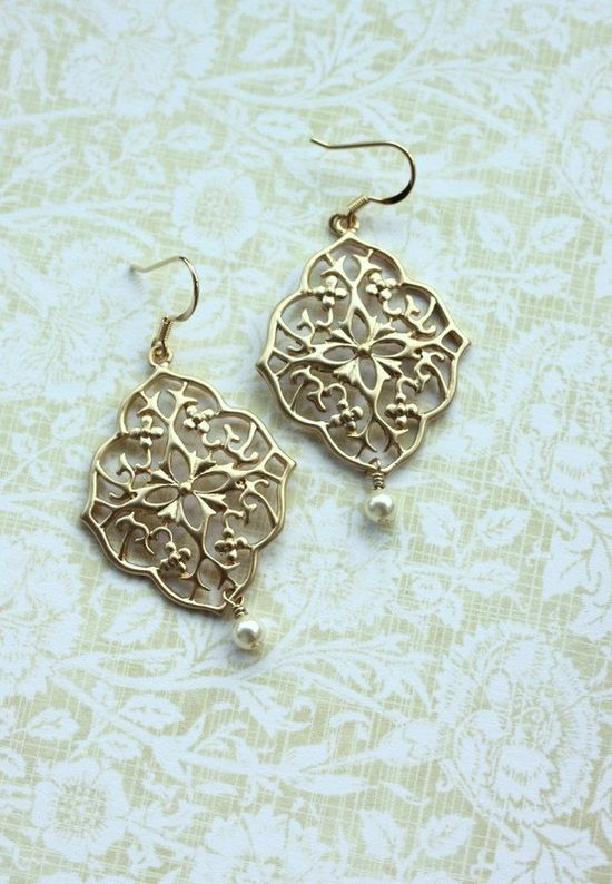 Gold Plated Chandelier Earrings. Gorgeous!