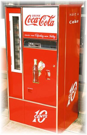 60's Coke Machine. I remember it smelt so good when you opened the door to choose your drink