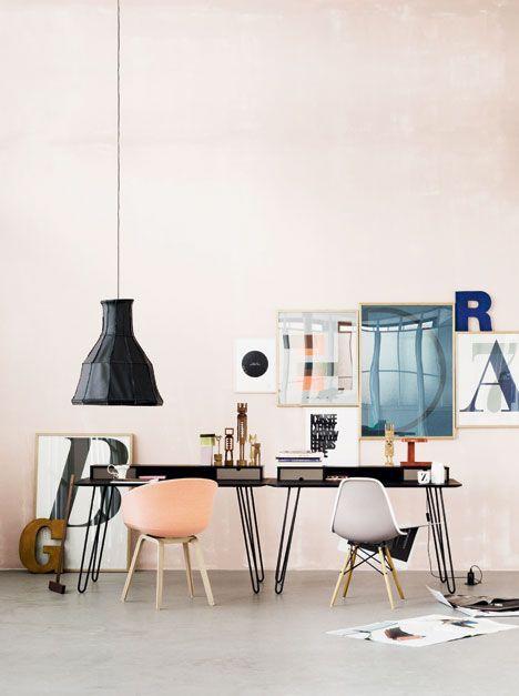 peach & #Desk Layout
