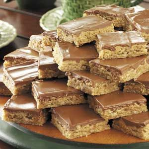 Healthier oatmeal peanut butter bars. With no sugar added!!!