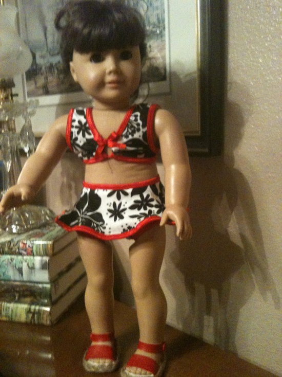 American Girl Doll Clothes, Swimsuit. $12.00, via Etsy.
