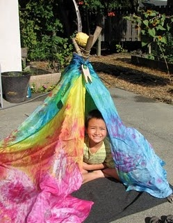 DIY Silk Teepee