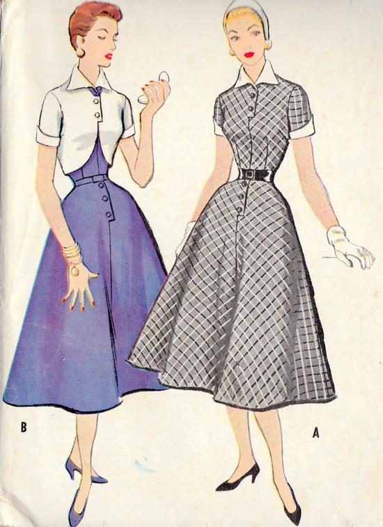 1950s Misses Rockabilly Dress and Bolero  #partydress #vintage #frock #retro #teadress #romantic #feminine #fashion
