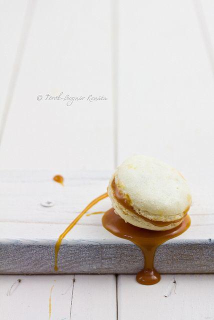 Rich, gooey, fabulous Salted Caramel Macaroons! #cooking #food #beautiful #baking #dessert #macarons #caramel #salted