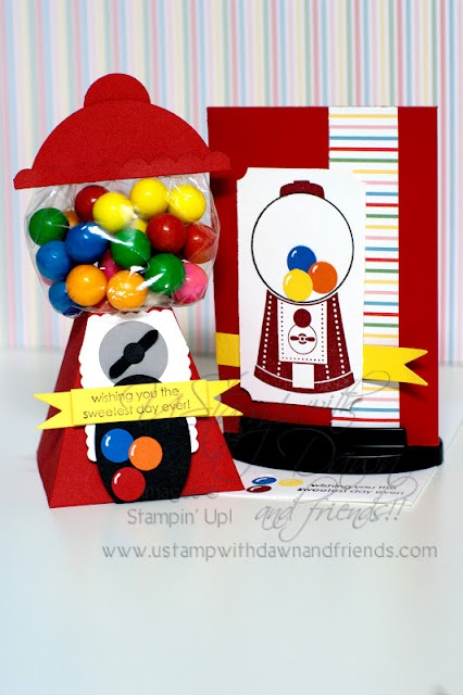 Stampin' Up!  Petal Cone  Rachel Ricks  Gumball Machine