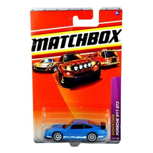 Matchbox Sports Cars Blue Porsche 911 GT3 by Matchbox. $6.99. #14 of 100. 1/64 scale. Ages 3+. made in 2009. diecast body and plastic chassis. DIE CAST