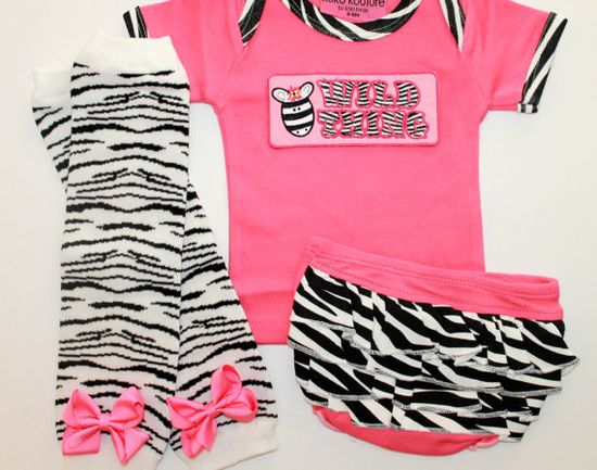 Baby Girl Clothing  Wild Thing Zebra Bloomer Set  Baby by BabaWear, $28.00