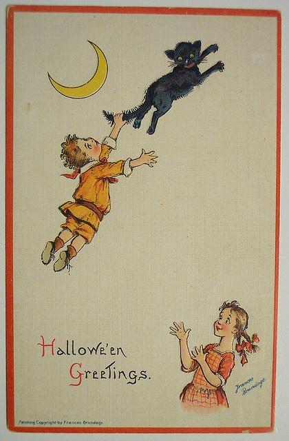 Vintage Halloween Postcard     Sam Gabriel by riptheskull, via Flickr