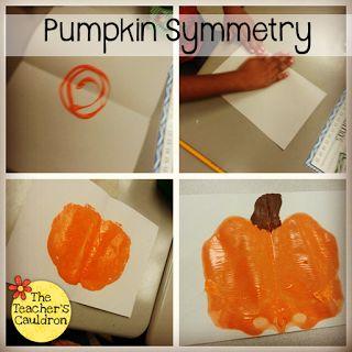 Pumpkin Painting Symmetry