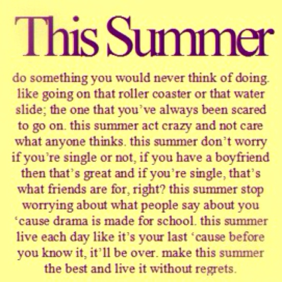 This Summer.