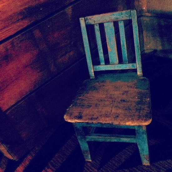 The little blue chair....
