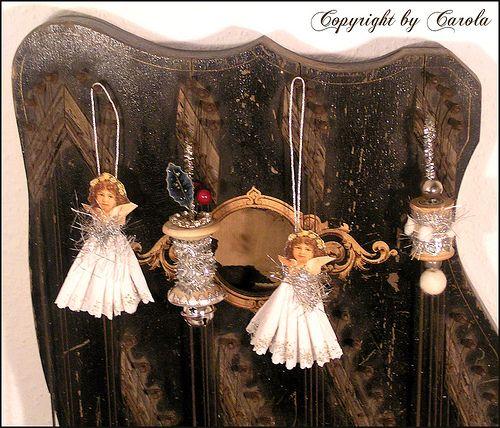 vintage style spool ornaments
