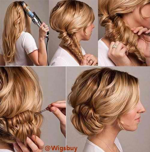 Hair style for long hair.