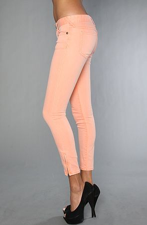 Free People Apricot Skinny Jeans