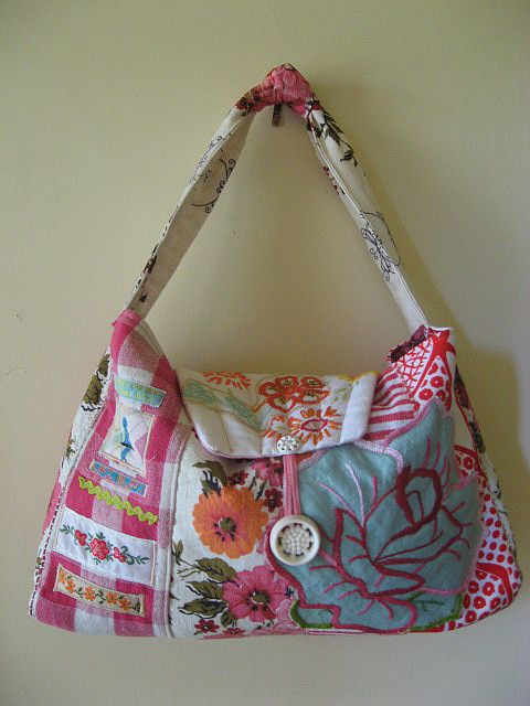 bag from old linens