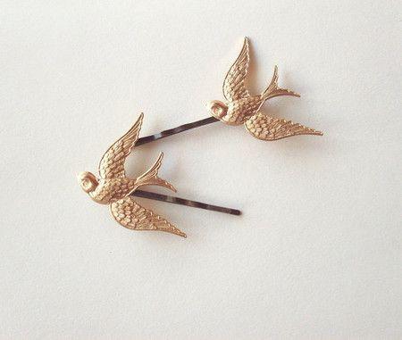 golden sparrow pins...adorable