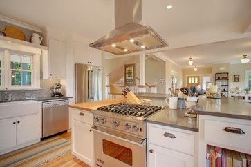 Range In Island Design Ideas, Pictures, Remodel, and Decor