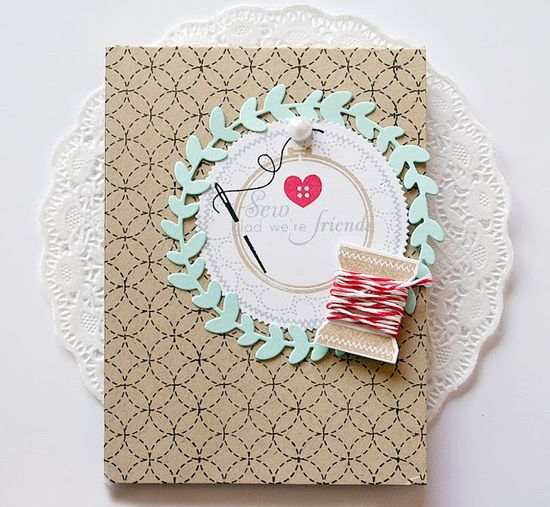 Sew Glad We're Friends Card by Danielle Flanders for Papertrey Ink (November 2013)