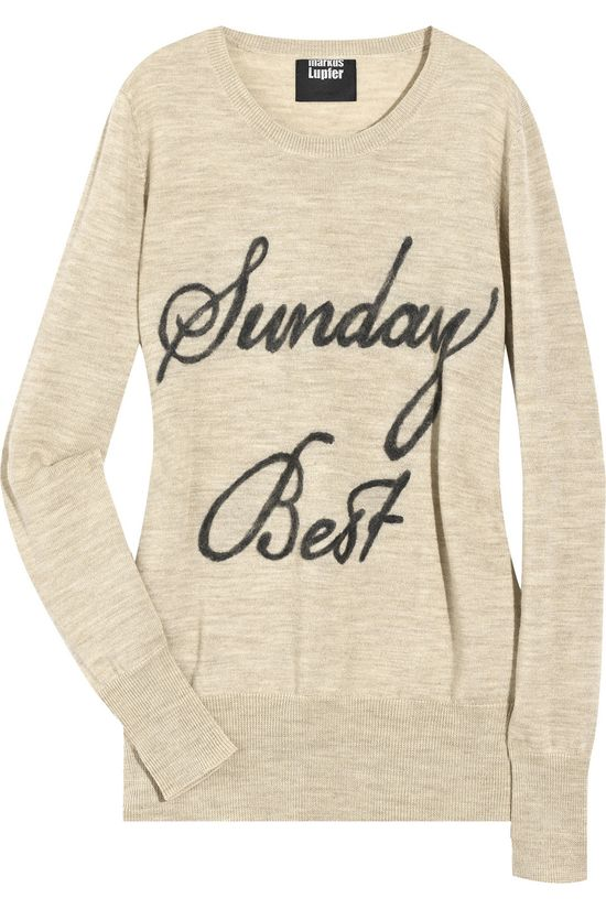 LOve comfy sweaters on a lazy sunday!