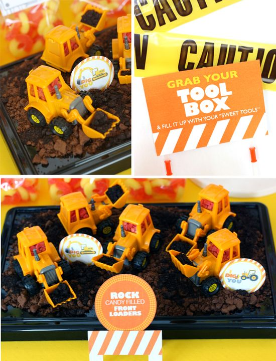 """""""I Dig You"""" construction themed birthday party!"""