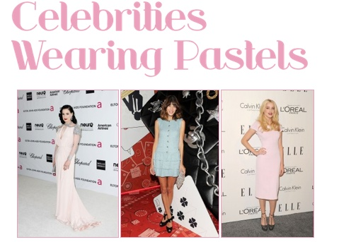Celebrities Wearing Pastel