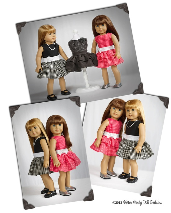 PDF Sewing Pattern for 18 Inch American Girl Doll Clothes - Perfect Party Dress ePattern. $4.49, via Etsy.