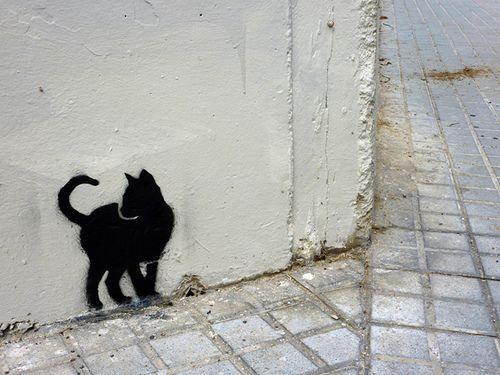 urban cat street art 000