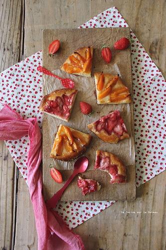 PIZZA AUX FRUITS pizza aux abricots & miel, pizza aux fraises