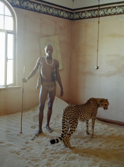 SIMON & KIKI IN ABANDONED HOUSE,  KOLMANSKOP, NAMIBIA, AFRICA, 2011  BRITISH VOGUE - TIM WALKER