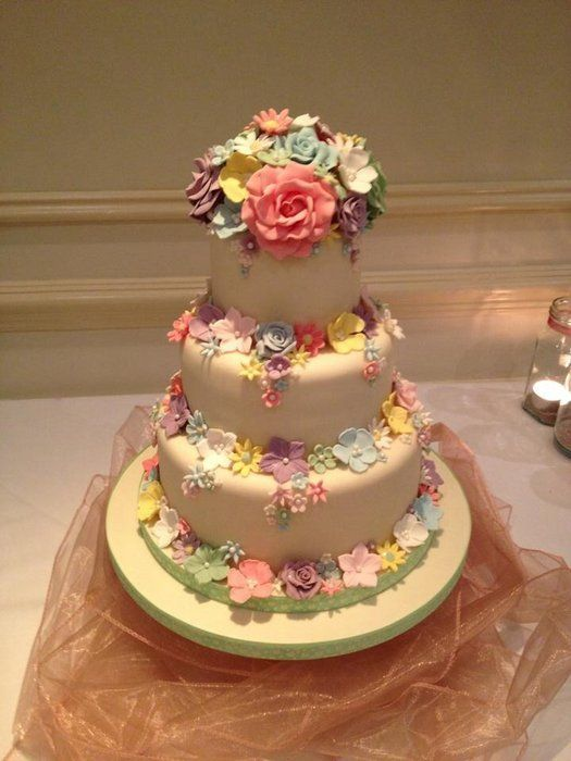 Perfection!  All handmade flowers and edible ~  Just Fabulous!