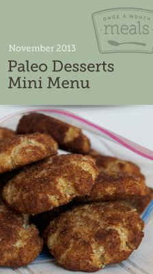 Paleo Desserts Mini November 2013 Menu