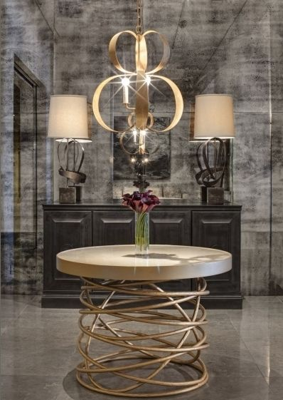 gold & grey interiors