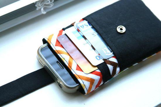 iPhone wallet / iPhone Sleeve / iPhone Case / iPhone 4s - Chevron