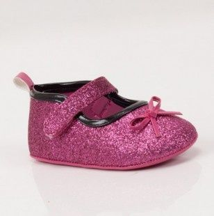 Pink Sparkle Baby Shoes.