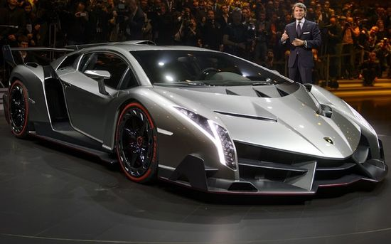The new #Lamborghini #Veneno is presented by CEO and Chairman Stephan Winkelmann ahead of the Geneva Car Show