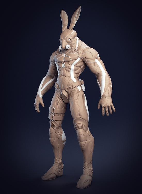 Cyber Rabbit 3D WIP