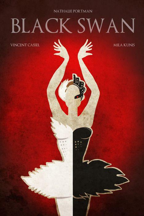 Black Swan minimal movie poster.
