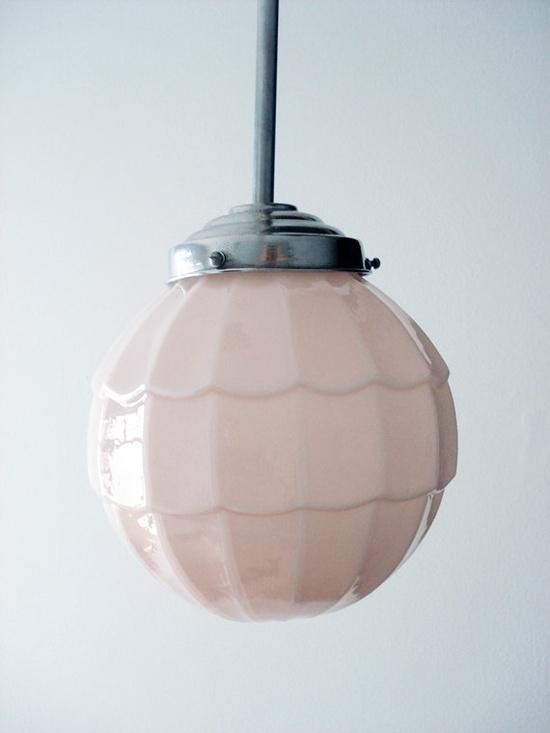 pink pendant lamp
