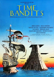 Time Bandits is a 1981 British fantasy film co-written, produced and directed by Terry Gilliam. Eleven-year-old Kevin has a vivid imagination and is fascinated by history, particularly of Ancient Greece, his parents ignore his activities and Kevin recedes into a fantasy world of time travel.