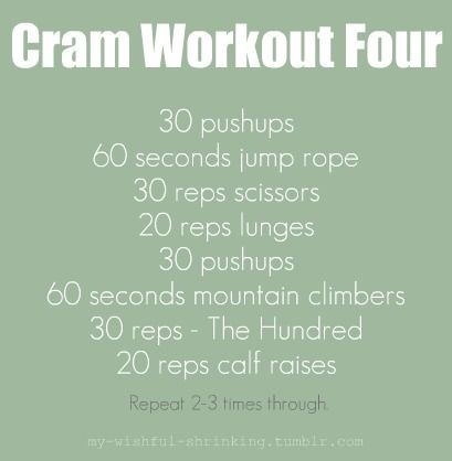 Cram Mini Workouts: There's always time to fit in a quick workout