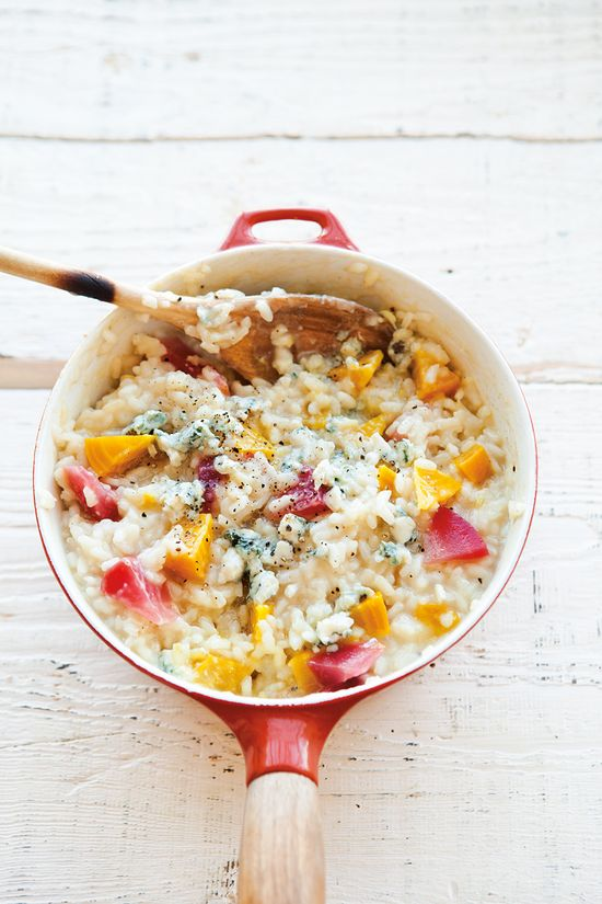 Golden Beet & Blue Cheese Risotto