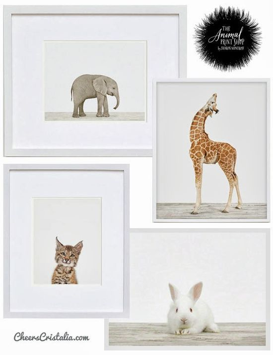 Cute Baby Animal Prints for the baby's room #home #decor